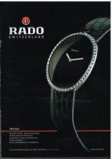 Publicité Advertising 2003 La Montre Rado Switzerland