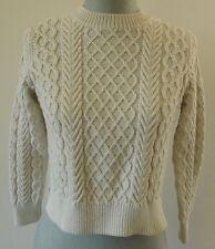 A.P.C. Rue Madame Paris cotton silk blend fisherman cable knit sweater size XS