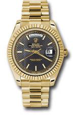 Rolex Day-Date President 40mm Yellow Gold Mens Watch Black Motif Dial 228238