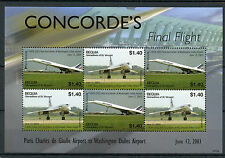 Bequia Gren St Vincent 2007 MNH Concorde Final Flight 6v M/S F-BVFA Paris Stamps