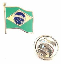 Brazil Flag Enamel Lapel Pin Badge T822