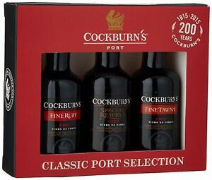 Cockburn's Classic Port Selection Gift Set (3 x 5cl)