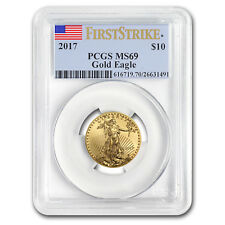 2017 1/4 oz Gold American Eagle Ms-69 Pcgs (First Strike)