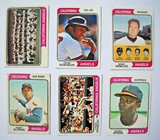 1974 Topps California Angels Partial Team Set (27 of 29 Cards) Mixed Grade