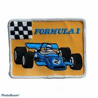 Vintage Patch Formula 1 Indy Race Car Hot Rat Rod 80s 70s Racing