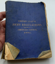 Rare United States Army Regulations 1881 Book US Military Vintage 20-50