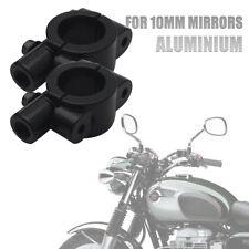 2 x Universal Motorrad Spiegel Lenker Halter Spiegelhalter Spiegelschelle