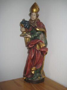 Heiligenfigur Holz Heiliger Urban