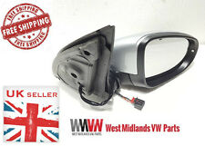 VW GOLF MK6 09-13 ELECTRIC DOOR WING MIRROR & INDICATOR DRIVERS SIDE SILVER NEW
