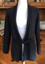 N55~ A. Giannetti Charcoal 100% Merino Wool Sweater Jacket/Cardigan SZ M