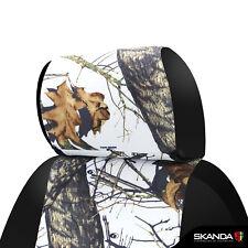 Coverking Skanda Mossy Oak Winter Camo Front Seat Covers for Chevy Silverado