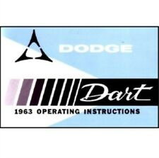Factory Owner's Manual for 1963 Dodge Dart A-Body