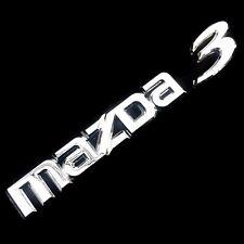 """MAZDA 3"" BADGE LOGO CAR CHROME SILVER EMBLEM STICKER REAR TRUNK SKYACTIV SEDAN"