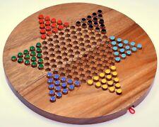 Stern Halma Strategiespiel Gesellschaftsspiel Brettspiel rund + faltbar Gr. XL