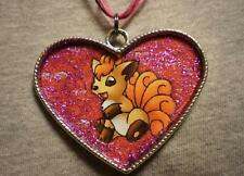 Big Vulpix Pokemon Tibet Silver Pendant Necklace Novelty Cute Anime Jewelry