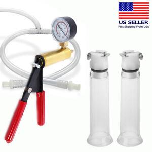 Nipple Enlargement Pump Kit Vacuum Suction Cylinders Enlarger Enhancer System US