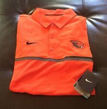 Nwt Nike Drifit Oregon State Beavers Baseball Polo  Men's Size Small Orange R6