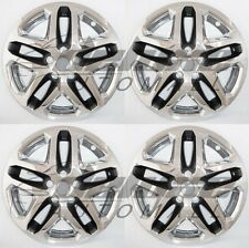 "17"" Chrome + Black Wheel Skins / Hubcaps FOR 2013 2014 2015 Ford Fusion"