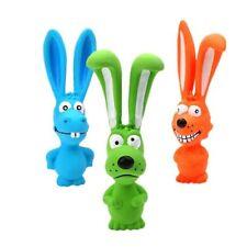 Screaming Dog Rubber Toy Puppy Squeak Rabbit Sound Chew Bite Play Pet Training
