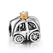Princess's Carriage 925 Silver European Bead Charms Fit Sterling Women Bracelet