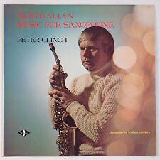 PETER CLINCH: Australian Music for Saxophone RARE Jazz VINYL LP