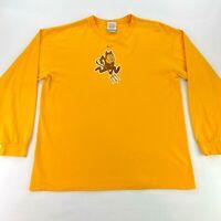 VTG Nike x Arizona State Sun Devils Men's L/S T-Shirt Yellow • Large