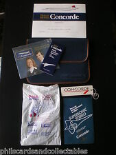 British Airways Concorde bag  with contents - Headphones, Certificate, Tag  etc