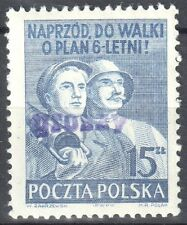 """Poland 1950 Polish Workers - surcharged """"GROSZY""""  Fi.527 - MNH(**)"""