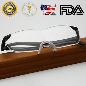 Big Vision Eye Glasses 1.6X Magnifying Eyewear Make Everything Bigger Clearer