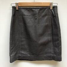 KOOKAI Genuine Leather Dark Grey  Skirt Size 36 (Au 8)