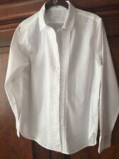 Equipment Femme Women's Tuxedo Button Down Shirt Blouse Top White Small Cotton