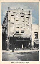 D20/ Sebring Ohio Postcard 1944 Bandy Block Store Building