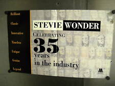 STEVIE WONDER 1995 Supersized PROMO POSTER AD 35 Years