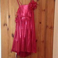 Rojo Hermoso vestido sin mangas de niñas para ocasiones especiales, 170 Cm