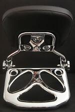 Ghost Luggage Rack + Detachable Backrest Sissy bar Harley Davidson Touring 97-08