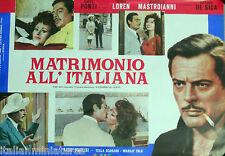 Marriage Italian Style Matrimonia All Italiana Sophia Loren Original Film Poster