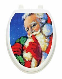 Secret Santa Toilet Tattoo Christmas Decoration for your Lid Hygienic Reusable