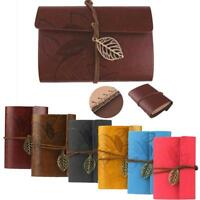 Vintage Retro Journal Travel Leather Cover Blank Note Travel Diary Notepad G