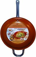 Titanium Steel Frying Pan 12 inches Ceramic Infused Non Stick Copper Induction