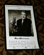 DOC SEVERINSEN W/ THE EDMONTON SYMPHONY ORCHESTRA SIGNED CONCERT POSTER MARCH 91
