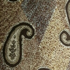 Brown Paisley KRIZIA Silk Tie