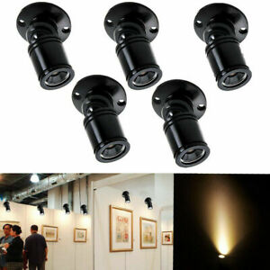 5 X LED 1W Mini Spot Lampe Projecteur Comptoir Armoire Bar Cave à Vin Downlight