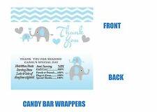 Baby Shower Candy Bar Wrapper, Elephants, Elephant baby shower, Candy Bar Label