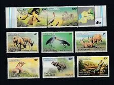 LG RWANDA - MNH - ANIMALS - BIRDS - ELEPHANT - ZEBRA