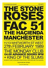 """THE STONE ROSES HACIENDA MANCHESTER CONCERT POSTER 30x20"""" FREE P&P Ian Brown"""