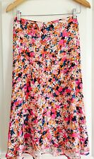 BARDOT WOMENS MIDI SKIRT FLORAL PRINT VISCOSE SUMMER WORK PARTY Aline NWT SZ 10