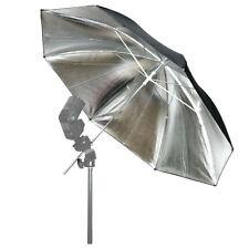 "33"" Silver/Black Reflector Umbrella Photo Flash Studio Reflector Soft Umbrella"