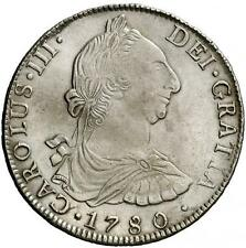 ESPAÑA SPAIN 1780 CARLOS III. 8 REALES POTOSI PR. PLATA SILVER - EBC