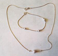 Ensembre collier et bracelet assortis en argent massif  (Ref. 347)