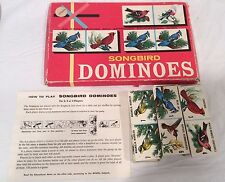 Vintage Songbird Dominoes 1950s Complete Wildlife Federation Game Altered Art